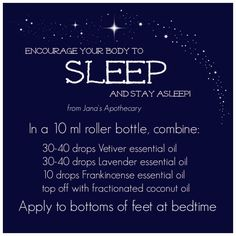 Encourage Sleep! For more information visit www.mydoterra.com/melissacrofoot