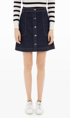 Women   Cosima Denim Skirt   Club Monaco Canada