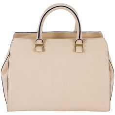 Victoria Beckham beige grained leather Soft bag found on Polyvore