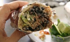My new favorite Mexican joint in the Bay Area, San Mateo's Pancho Villa Taqueria :-)  This is the carnitas burrito.  Also try the #5 combo!  Great salsa, great service, great food!