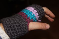 guantes crochet!!