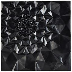 Black Geometric 3D Wall Sculpture (2 515 SEK) ❤ liked on Polyvore featuring home, home decor, wall art, sculptural wall objects, geometric wall hanging, geometric home decor, geometric canvas wall art, unframed wall art and black canvas wall art