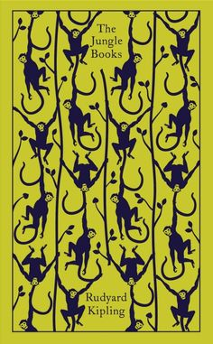 The Jungle Book by Rudyard Kipling. Penguin's Clothbound Classics with cover design by Coralie Bickford-Smith. The Jungle Book, Penguin Clothbound Classics, Penguin Classics, Graphisches Design, Buch Design, Der Panther, Black Panther, Graphic Design Magazine, Magazine Design