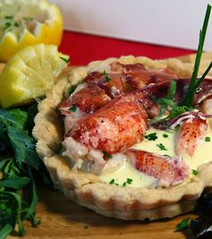 What's Cooking with Doc :: The Grassroots Gourmet. Truffled Tarragon Lobster (sous-vide) with Roasted Corn Champagne Sabayon Tart