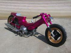 Custom Moped, Custom Sport Bikes, Retro Scooter, Scooter Bike, Scooters, Powered Bicycle, Honda Ruckus, Honda Cub, Hot Bikes