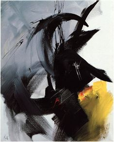 Brumes (1992) by French abstract painter Jean Miotte - L'Art Informel