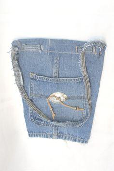 Teen Denim Blue Jean Purse/Totebag/Shoulder bag by foxvalleycrafts, $19,00