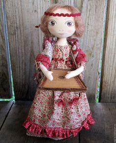 """Текстильная кукла """"Гуслярша""""."""