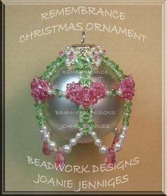 Remembrance Christmas ornament (for my sister Jackie) ~ Beadwork Designs by Joanie Jenniges