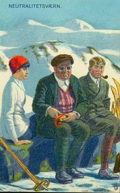 Kunstnerkort Andreas Bloch Neutralitetsværn brukt 1916 Painting, Postcards, Kunst, Painting Art, Paintings, Painted Canvas, Drawings