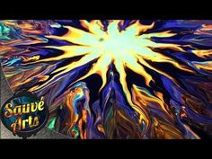 "Abstract Painting Art Demo - ""Fire Sun 2"" Embrace The Matrix - YouTube"