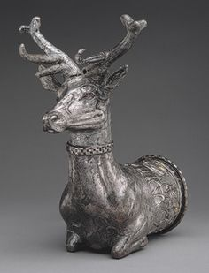 Hittites made  crazy-cool vessels in the shape of the animal representing the gods. This was made to honor the stag god.