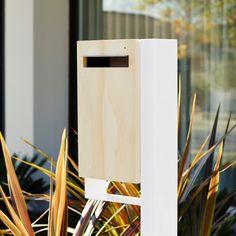 Modern Custom Mailbox Javi Post Mounted Letterbox by JaviDesign