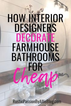 If you want to decorate your farmhouse bathroom for cheap look no further. You will be inspired by these neutral bathrooms. If you are looking for tile ideas and shiplap inspiration this is the post for you. Treatment Projects Care Design home decor Mermaid Bathroom Decor, Bathtub Decor, Nautical Bathroom Decor, Neutral Bathroom, Bathroom Wall Decor, Bathroom Ideas, 1920s Bathroom, Bathroom Designs, Zen Bathroom