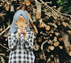รูปภาพ autumn, hijab, and girl