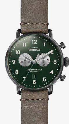 62ecf479b9c6 SHINOLA The Canfield Chrono 43mm. Relojes Para HombresRelojes Militares  SuizosCuero ...