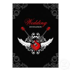 Rock and Roll wedding invitation. Oh yes, def great for our r n r wed!