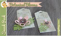 SU stampin up sommer stempeltier botanical blooms gewellter Anhänger Tag Punch botanical