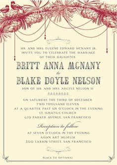beautiful timeless and bold red wedding invitations