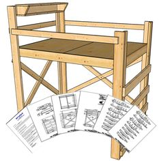 These loft bed plans were designed for Full size mattresses and is perfect the couple that is looking to gain floor space by adding a loft bed. The OP Loftbed is designed to be rock-solid and can easily support two people. The bed can be built in a day by someone with minimal woodworking skills. …