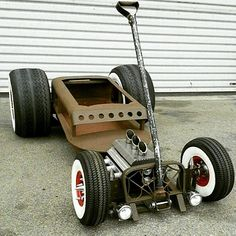 rat rod red wagon - Google Search Baby Strollers, Rats, Antique Cars, Trucks, Vehicles, Baby Prams, Old School Cars, Vintage Cars, Rolling Stock