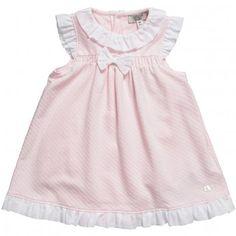 Armani Junior Baby Girls Pink Onesie Cotton Dress at Childrensalon.com