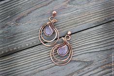 Wire Jewelry Designs, Diy Jewelry Tutorials, Wire Wrapped Earrings, Wire Earrings, Handmade Wire, Handmade Jewelry, Crochet Earrings Pattern, Designer Earrings, Wire Wrapping