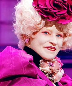 Effie Trinket in the Capital - The Hunger Games :) #pink