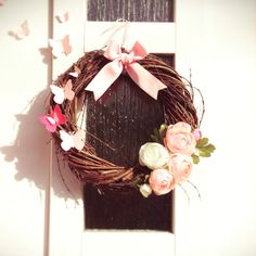 Spring wreath Grapevine Wreath, Grape Vines, Wreaths, Spring, Handmade, Home Decor, Hand Made, Decoration Home, Door Wreaths