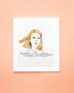 Margot Tenenbaum watercolour portrait PRINT by ohgoshCindy on Etsy