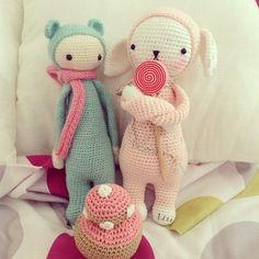 BINA the bear and rabbit mod made by vanessanawell / crochet pattern by lalylala
