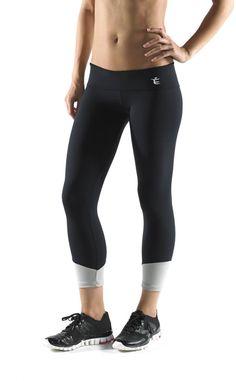 Ladies Black Workout Tights