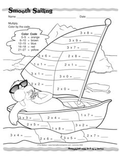 Smooth Sailing, Lesson Plans - The Mailbox Math Games, Activities For Kids, Ks1 Maths, Math Sheets, Math Talk, Basic Math, 3rd Grade Math, Math For Kids, Reading Skills