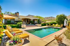 The elegance of France meets the near-perfect weather and stunning natural beauty of the Desert Cities at Bordeaux. Set in an exclusive gated community in the foothills of the Santa Rosa mountains and featuring open-air living spaces laid out around a courtyard and beautifully landscaped backyard.