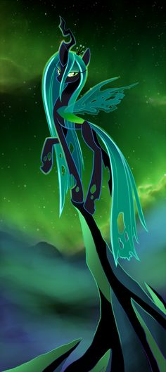 pretty Chrysalis! not the best villain (that would be Discord), but still-- loved her voice! <--- ditto