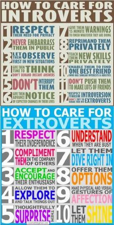 How to care for introverts/extroverts by SundayLady