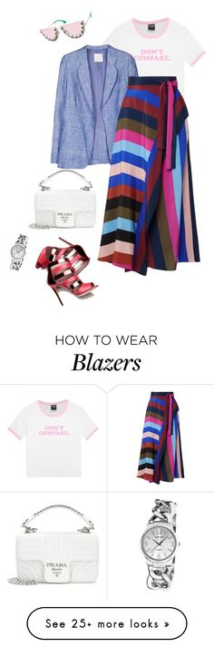 """outfit 7588"" by natalyag on Polyvore featuring Joie, Diane Von Furstenberg, Prada, Vernier and Alice + Olivia"