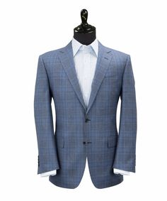 DESCRIPTION Made in Italy from the finest Merino wool, this fully-lined half-canvas blue plaid Jacket is a cut above. No matter the occasion this Jacket delivers versatility. Matched with a pair of gr