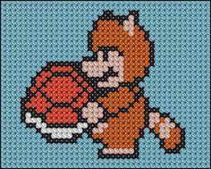 Pixel art + ponto de cruz + games = arte nerd | Cybervida