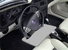 Found it at Wayfair - Automobile Steering Wheel Attachable Work Surface Grey Desk, Work Surface, More Fun, Inventions, Automobile, Car, Images, Window, France