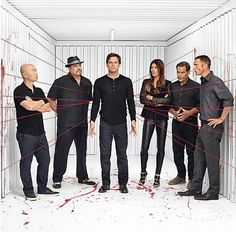 Dexter -- Mazuka, Angel, Dexter, Deb, his father, quinn
