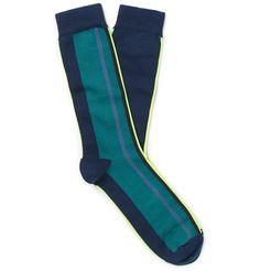 Paul Smith - Striped Cotton-Blend Socks