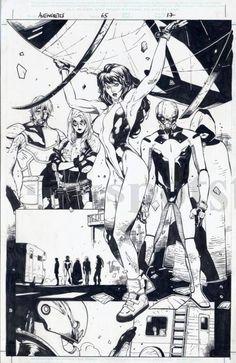 Avengers #67 interiors by Olivier Coipel