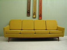 Mid-century Danish modern couch that would look pretty fabulous next to our Arco lamp Mid Century Sofa, Mid Century Style, Mid Century Furniture, Mid Century Design, Retro Furniture, Furniture Styles, Sofa Furniture, Danish Modern, Mid-century Modern