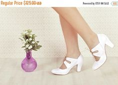 ON SALE Veganhigh heel non leather hand made by RoniKantorShoes