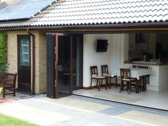 Open Living are Bi Fold Door installation specialists covering Hertfordshire, Bedfordshire and Cambridgeshire. Garage Door Design, Garage Doors, Conservatory Extension, Folding Doors, Modern Minimalist, Curb Appeal, Interior Design, Outdoor Decor, House