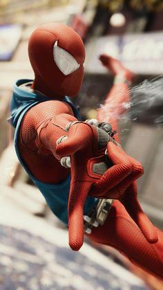 Scarlet spider - r Amazing Spiderman, Spiderman Spider, Black Spiderman, Marvel Comic Universe, Marvel Dc Comics, Marvel Heroes, New Spiderman Costume, Spiderman Cosplay, Spider Costume