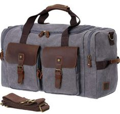 8e5397b4a5bfee WOWBOX Duffle Bag Weekender Bag for Men Genuine Leather Canvas Travel  Travel Bags For Men,