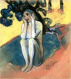 "Gauguin - Paul Gauguin, ""Breton Eve,"" (1889)"
