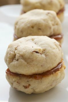 Cream Cheese Shortbread-Dulce de Leche Sandwich Cookies